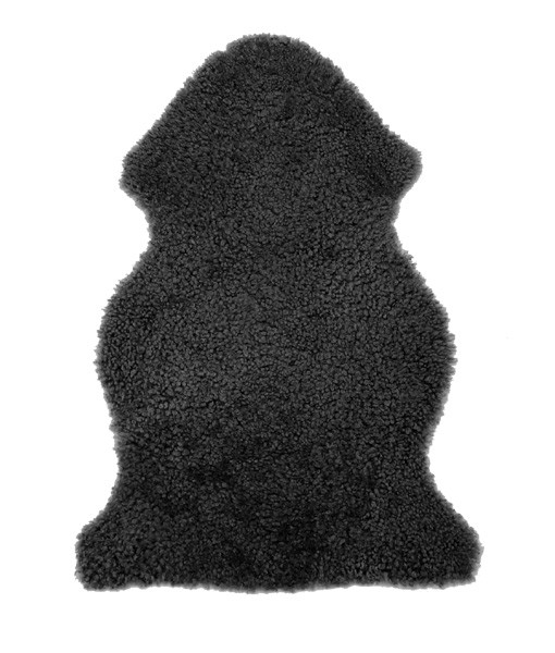 Short Curly Wool – Single Pelt – Charcoal