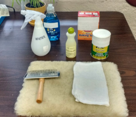 sheepskin cleaning supplies